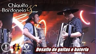 Desafio de Gaitas e Bateria, Chiquito e Bordoneio, Galpão Tio Toninho, Baile de Aniversário