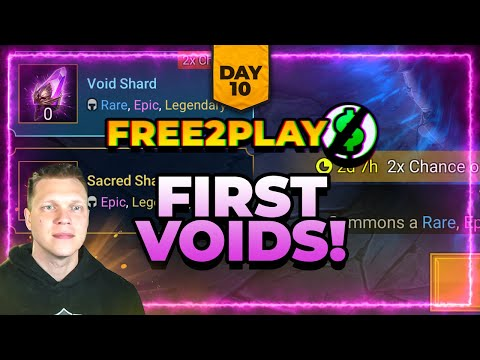 f2p Day 10 | FINALLY Pulled Voids | Who to 6* First?! | RAID Shadow Legends