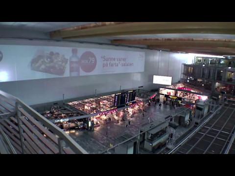 Bygging av nye Oslo lufthavn - inne i terminalen