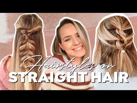 Hairstyles for Straight Hair + Heatless Hairstyles – Kayley Melissa
