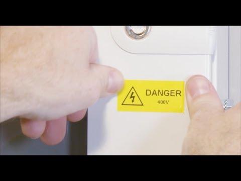 ¿Cómo crear una etiqueta de advertencia?