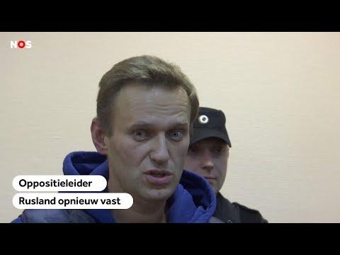 OPGESLOTEN: Russische oppositieleider Navalny direct na vrijlating weer cel in