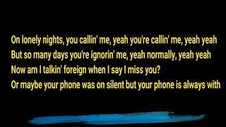 Lyrics of U Cry by Tyga