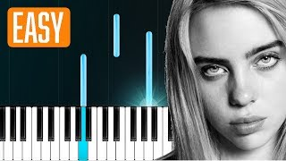 "Billie Eilish - ""you should see me in a crown"" 100% EASY PIANO TUTORIAL"