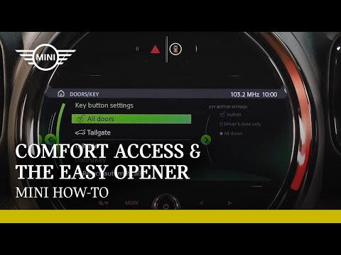 How to use Comfort Access and the Easy Opener   MINI How-To