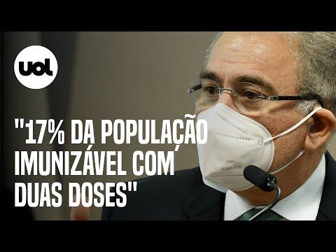 Queiroga diz que 17% da população imunizável já recebeu duas doses