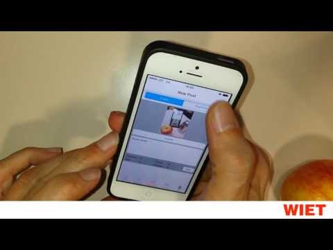 WIET App for iPhone: how to use it