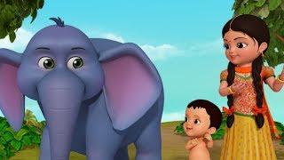 Hathi Raja   The Elephant Song   Bengali Rhymes For Children   Infobells