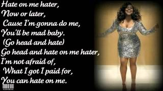 Hate on me - Glee version - Jill Scott - Lyric