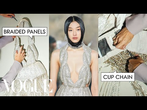 Deconstructing a $30,000 Crystal Embroidered Dress | Vogue