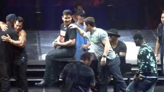 Mark Wahlberg on stage with NKOTB - Madison Square Garden