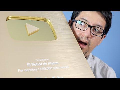 YouTube entrega el Botón de Oro a El Robot de Platón