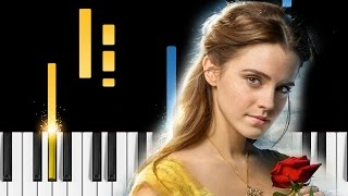 Emma Watson - How Does A Moment Last Forever - EASY Piano Tutorial - Beauty and the Beast soundtrack