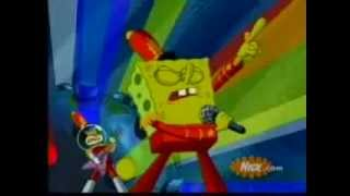 Bob esponja cantando el rap de dragón ball z