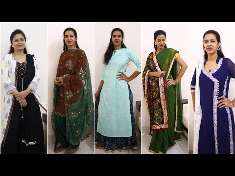 12 Last Minute Diwali Outfit and Decor Ideas - suit saree & duppata reuse