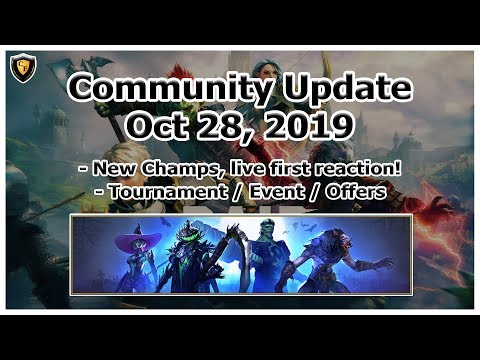 RAID Shadow Legends | Update Oct 28, 2019 | New champs live first reaction! + Misc discussion