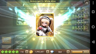 Line Get Rich : Get White Alice S+ with the best dice control ability 81 !