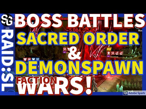 [RAID SHADOW LEGENDS] TWO NEW BOSSES - FACTION WARS TSO & DEMONSPAWN