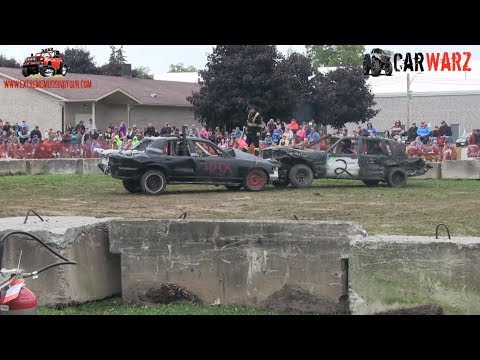 Heat 03 Of The Demolition Derby At Petrolia Fall Fair 2018