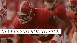 New York Giants Select DT Dalvin Tomlinson from Alabama in the 2nd Round