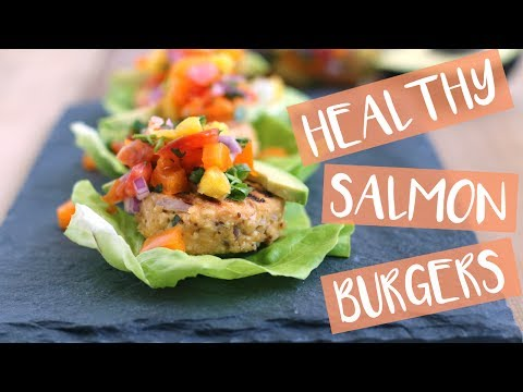 BEST SALMON BURGER Recipe with Pineapple Salsa | Grilling Recipes