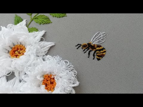 How to Embroider a Bee : Satin Stitch | Hand Embroidery