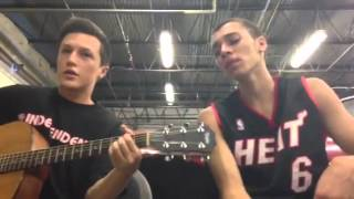 Kalin and Myles performing Swoop acoustic live