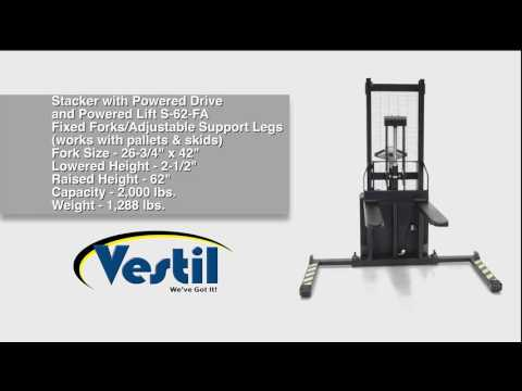 Electric Powered Stacker S-62-FA