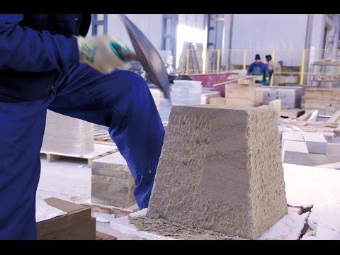 7.- HANDSTRIPPED FINISH at our Stone Factory  ★ APICONADO A MANO en nuestra Fábrica de Piedra