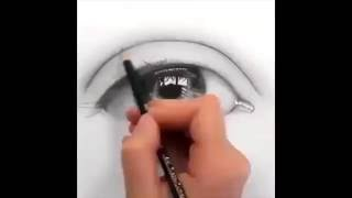 How To Draw Easy 3D Eye 3D Painting Optical Illusion 2016