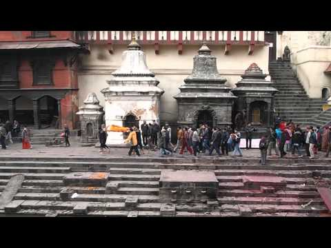 Cremation ceremony at Pashupatinath in Kathmandu Valley, Nepal