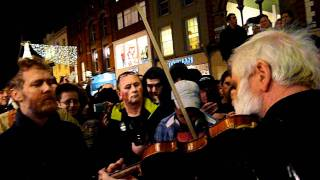 Glen Hansard (Frames) and John Sheahan (Dubliners), Grafton street 2011
