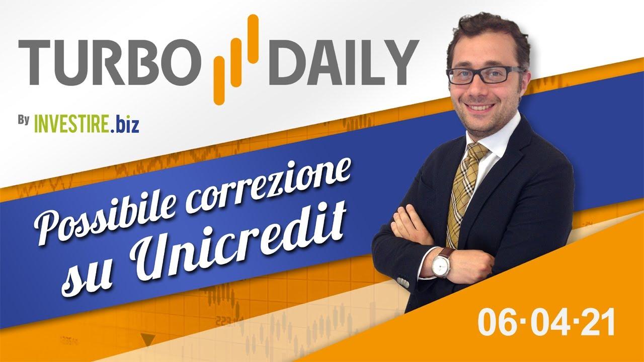 Turbo Daily 06.04.2021 - Possibile correzione su Unicredit