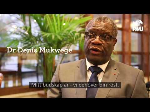 Dr Denis Mukweges uppmaning till Sverige - okt 2017