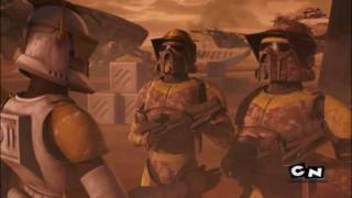 Star Wars The Clone Wars: landing at point Rain music video