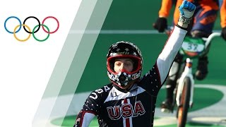The USA's Fields takes gold in Men's BMX