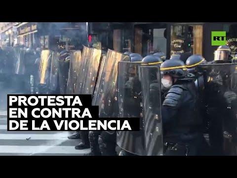 Dispersan una manifestación contra la violencia policial en París
