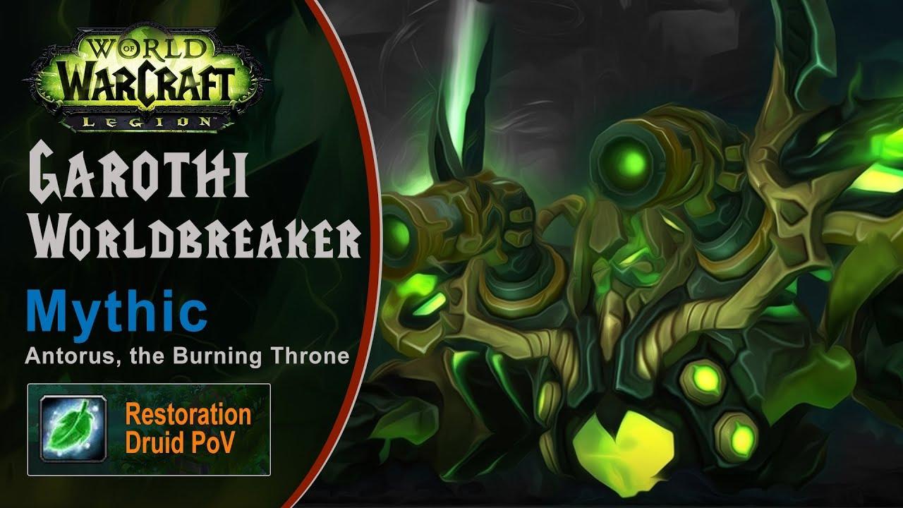 [LGN] Garothi Worldbreaker, Mythic Antorus, Restoration Druid PoV (Game Sounds Only)