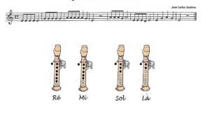 4 notas - Composição musical para flauta de bisel