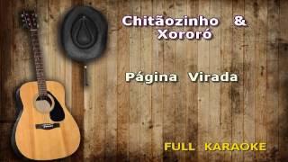 Karaokê Chitãozinho & Xororó  Página Virada Encomenda de cliente