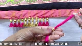 One Minute Baby Kuchu Using Beads I Latest Design of saree tassels I Ladies Club