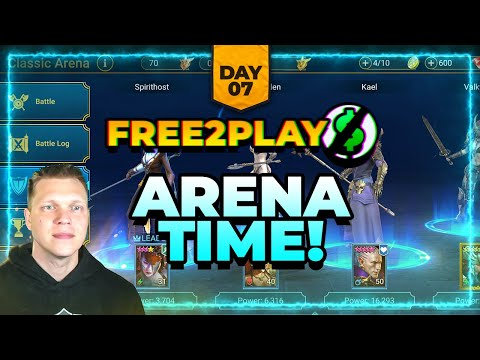 f2p Day 7 | ARENA HERE WE COME! | RAID Shadow Legends
