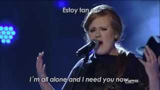 Adele ft Darius Rucker-Need You Now-Inglés y español