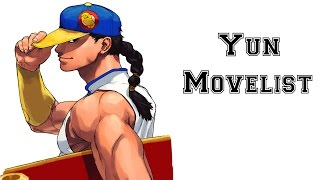 Street Fighter III: 3rd Strike - Yun Move List