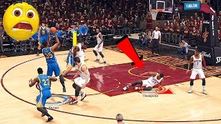 NBA LIVE 18 GAMEPLAY - CAVS vs WARRIORS / Kevin Durant BREAKS Tristan Thompson's ANKLES
