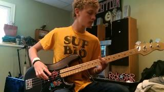 Panic! at the disco - Nicotine bass guitar cover