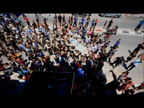 تشييع الفلسطيني عبد الكريم رضوان الذي قتل في غارة جوية إسرائيلية