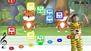 Learn to Play Two Tigers Nursery Rhyme - 两只老虎
