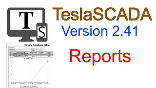 How to work with reports in TeslaSCADA
