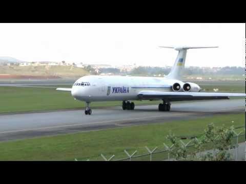 "[ HD ] Ilyushin Il-62 of YKPAIHA ""Ukraine Government"" at Guarulhos GRU/SBGR"